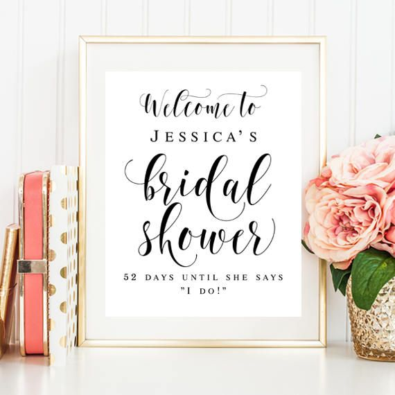 Welcome bridal shower sign Editable template Welcome sign Bridal ...