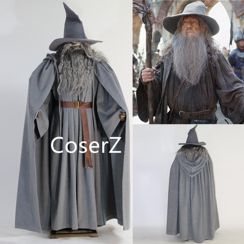 2019 Halloween Lord Of The Rings Gandalf Wizard Men Fancy Outfit Cosplay Costume