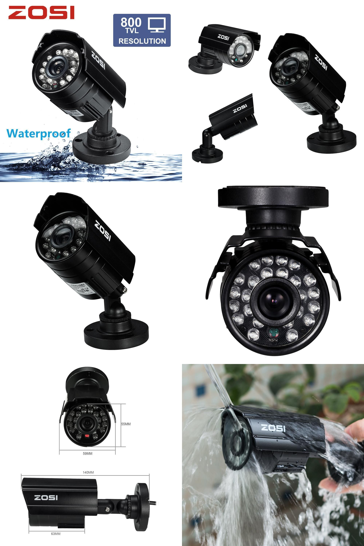 b415636c9c130 Visit to Buy  ZOSI 1 3 Color CMOS 800TVL Bullet Mini CCTV Camera HD ...