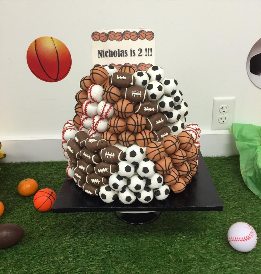 And of course the cake had to include all of the sports balls!