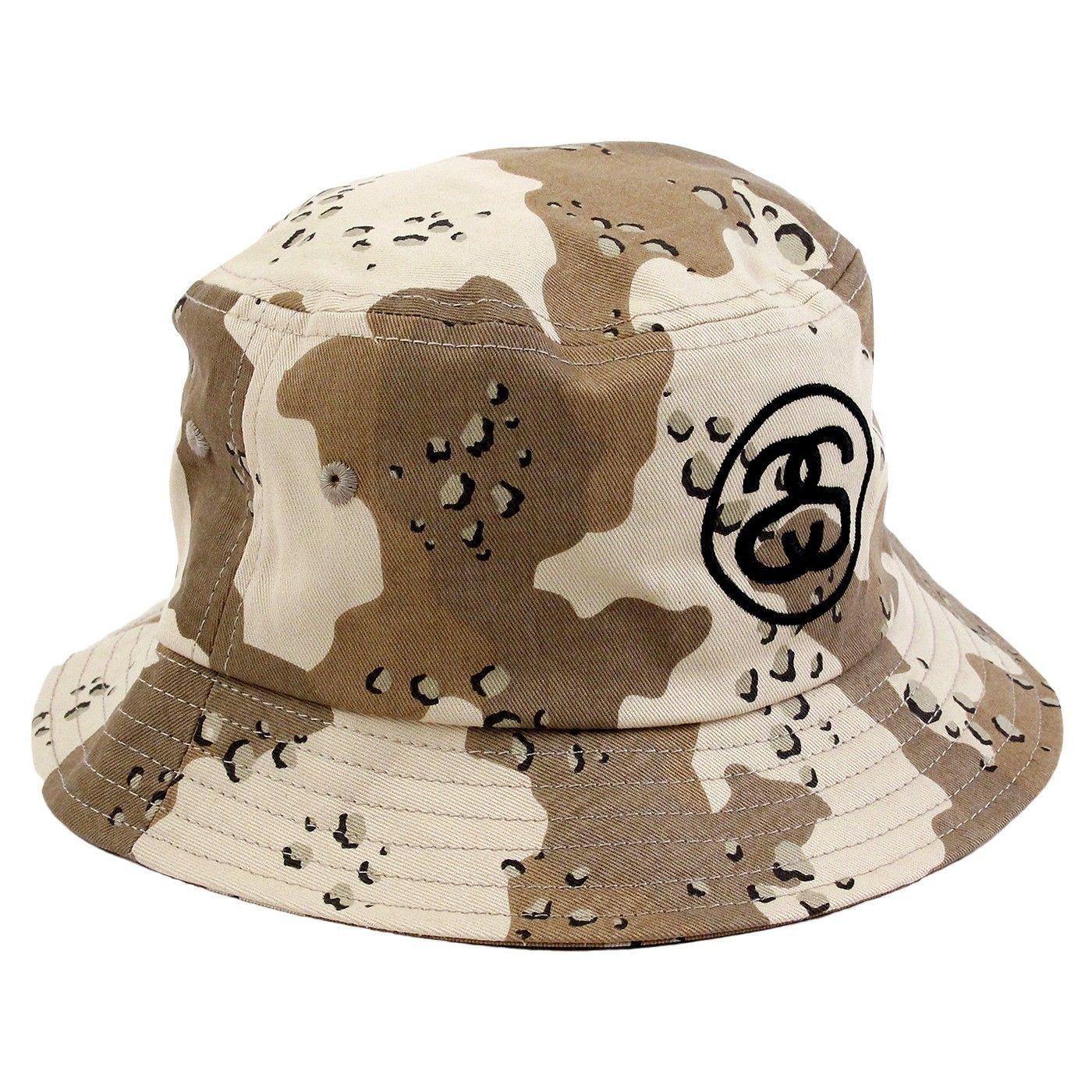 Stussy SS Link Bucket Hat in Desert Camo  b17487a80057