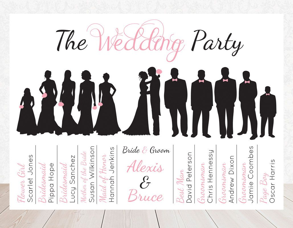 Wedding Party Silhouette Clip Art Bridal Party Silhouette Clip Art