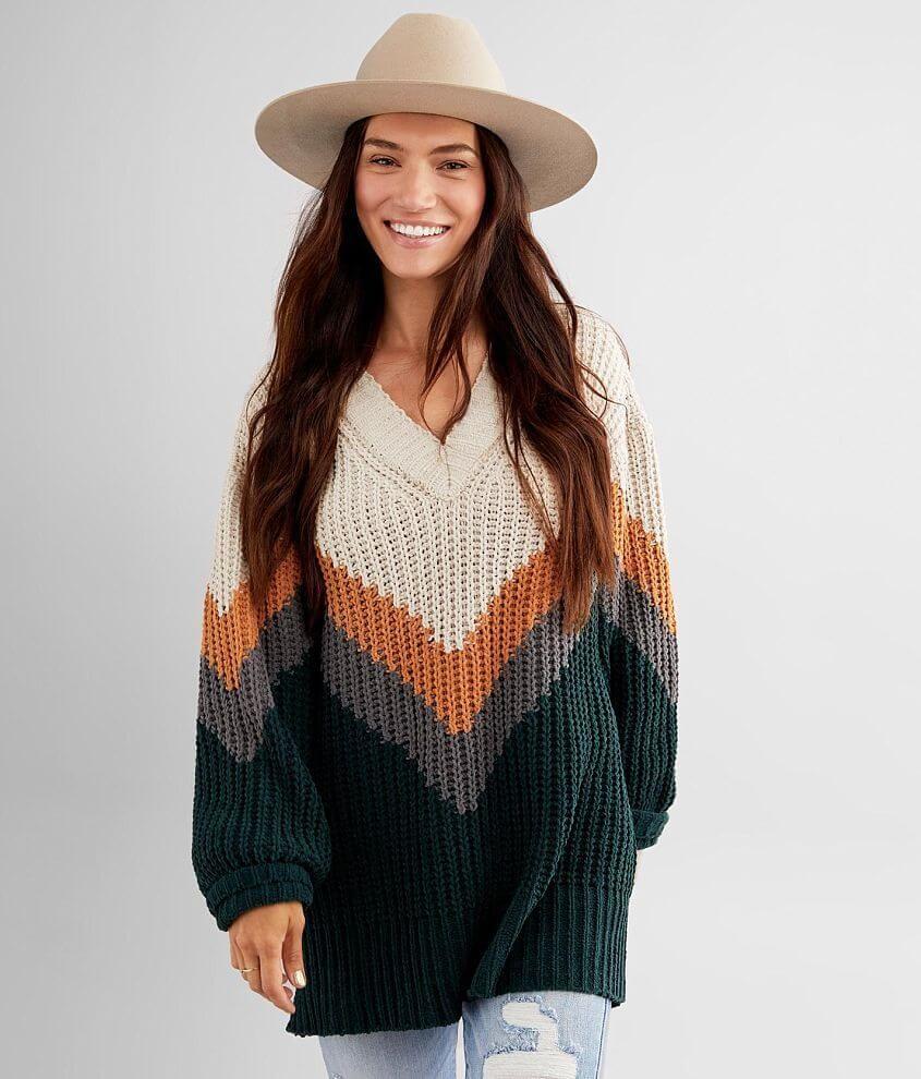 BKE Matte Chenille Chevron Sweater - Women's