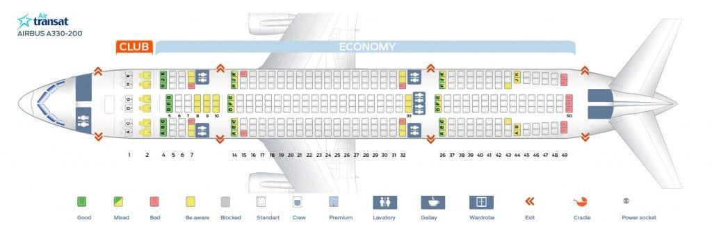 Air Transat Seating Plan Air Transat How To Plan