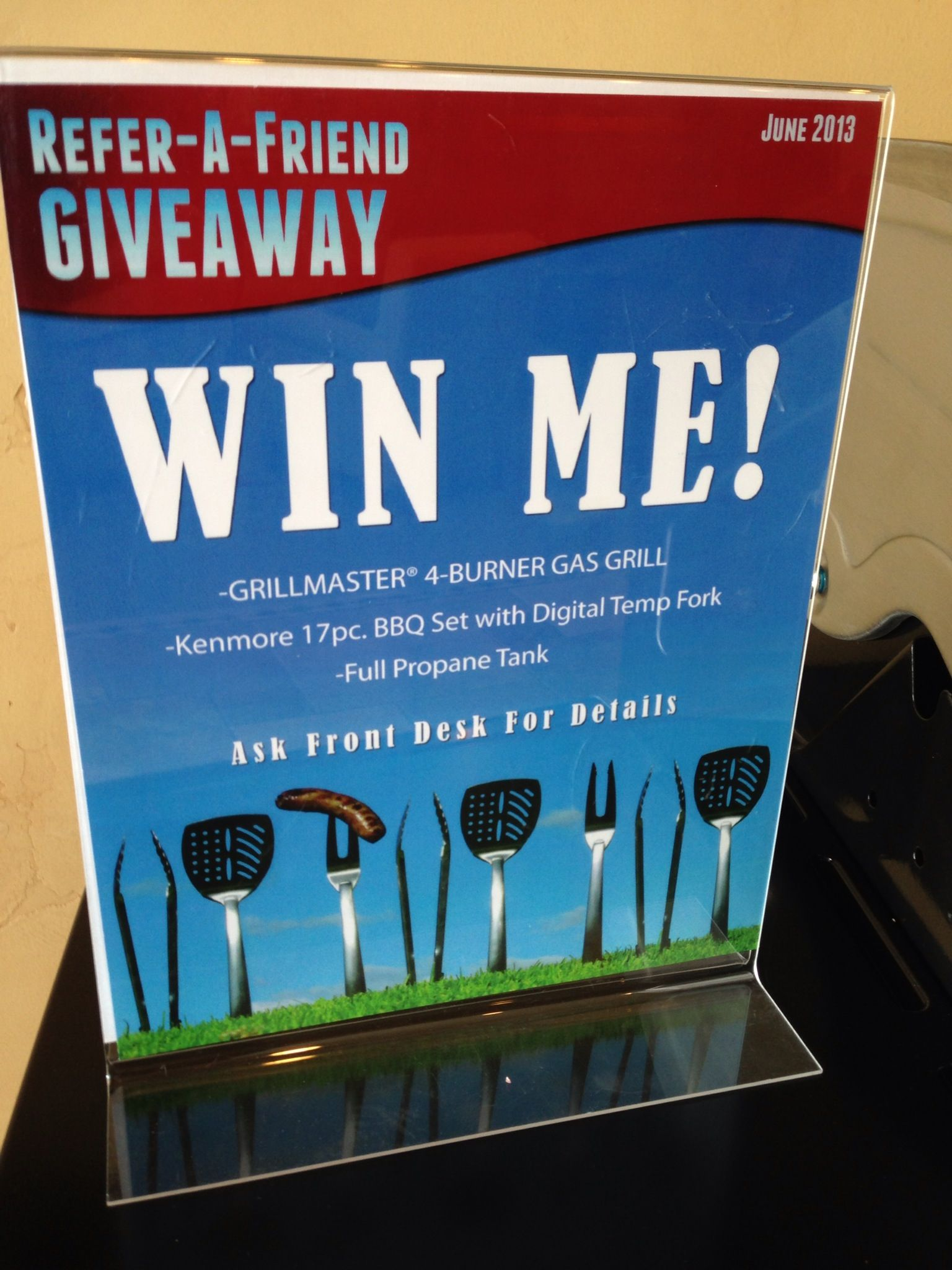This monthus giveaway for June  All you have to do is refer a
