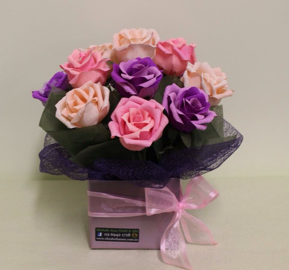Hand Made Paper Roses From Elizabeth Anne Florist Handcrafted