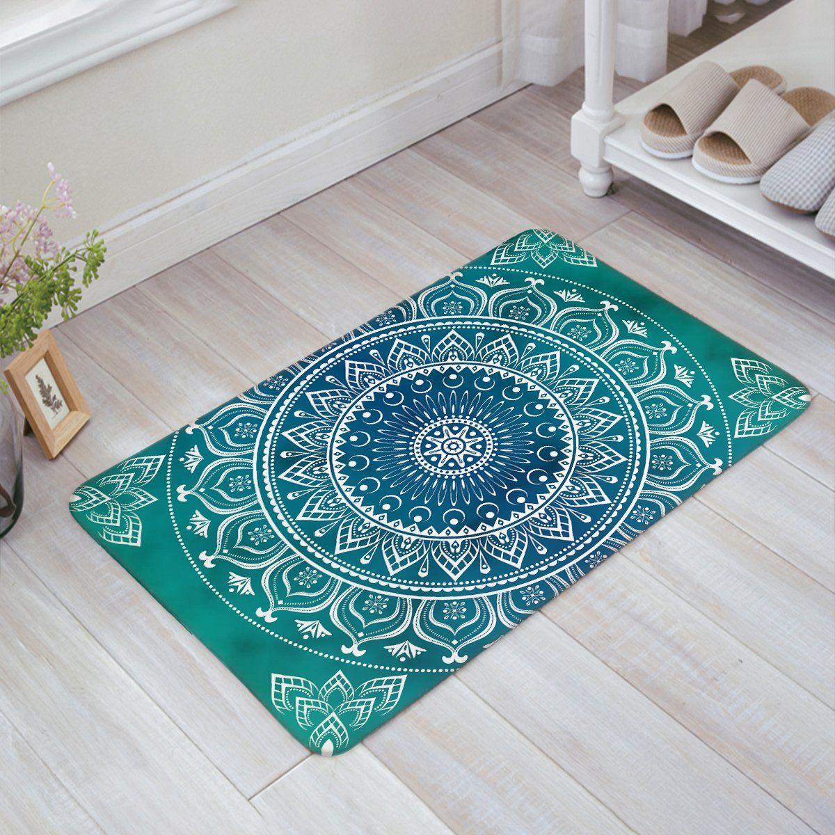 Libaoge Mandala Medallion Pattern Design Doormat Welcome Mat Entrance Mat Indoor Outdoor Door Mats Floor Mat Rug Mat Space Rugs Door Mat Bohemian Area Rugs