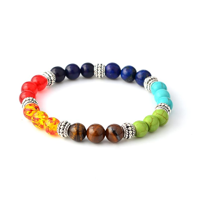 Multi-color 7 Chakra Healing Balance Beads Bracelet Yoga Life Energy Natural Stone Bracelet Women Men Casual Jewelry -  http://mixre.com/multi-color-7-chakra-healing-balance-beads-bracelet-yoga-life-energy-natural-stone-bracelet-women-men-casual-jewelry/  #Bracelets