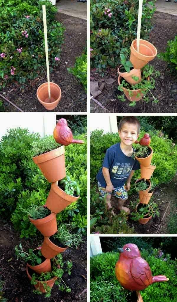 Low-Budget DIY Garden Pots and Containers Jardin Pinterest