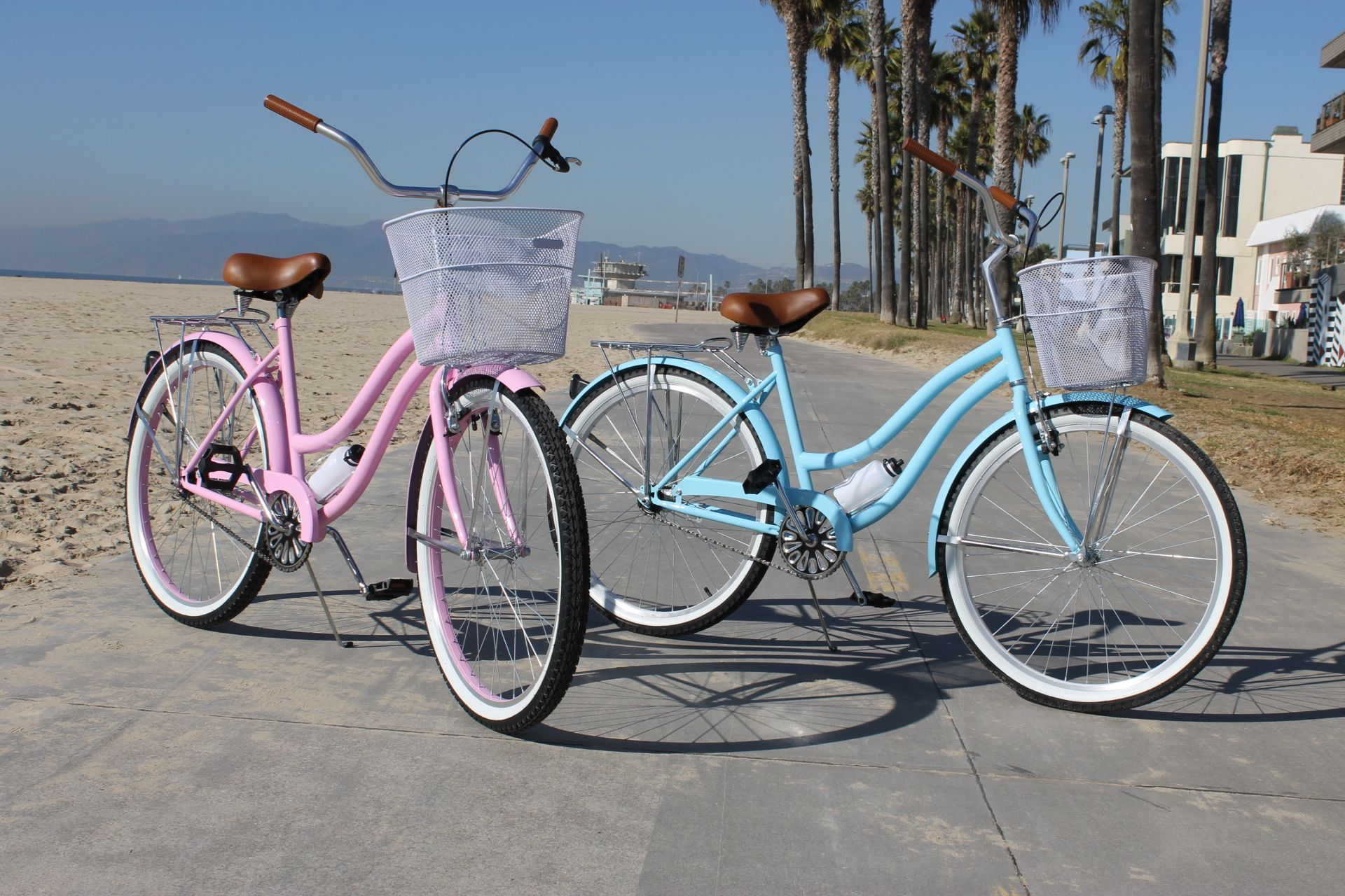 Beach cruisers in venice beach california