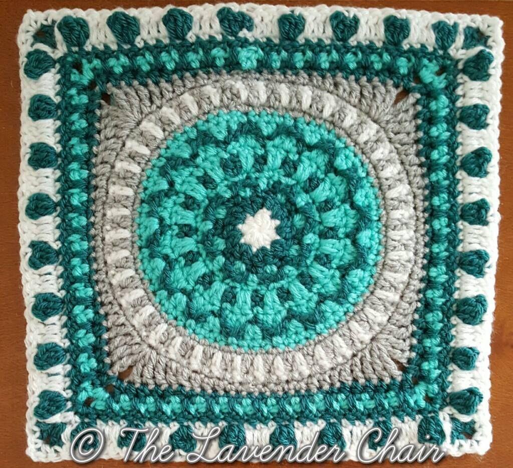 Peony Mandala Square Crochet Pattern | Pinterest | Mandalas, La ...