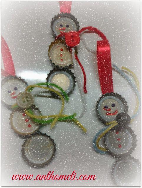 christmas ornaments DIY! Ανθομέλι