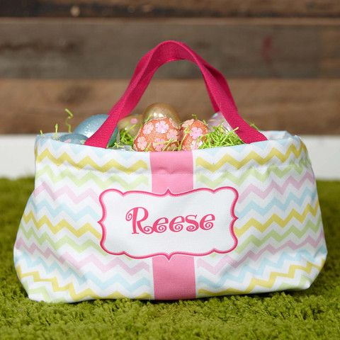 Pastel Chevron Easter Basket – Lolly Wolly Doodle