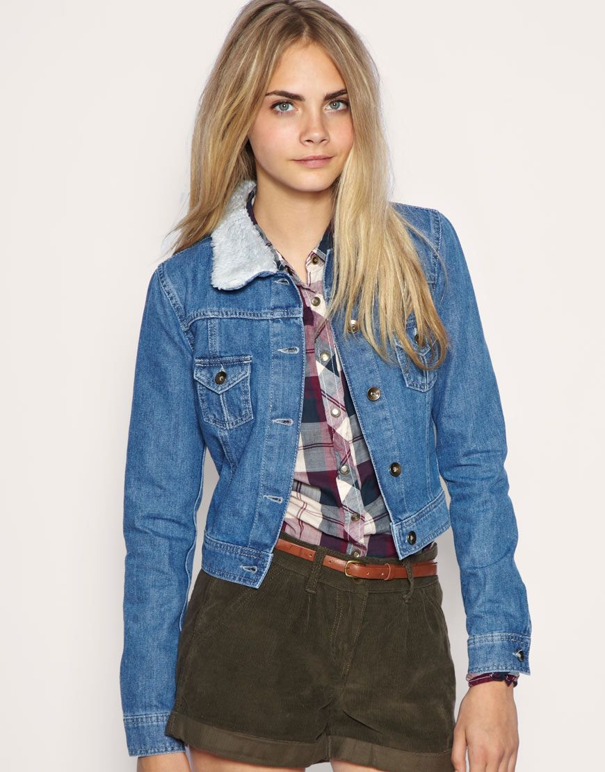Shearling-Denim-Jackets-For-Women- | Denim Jacket | Pinterest
