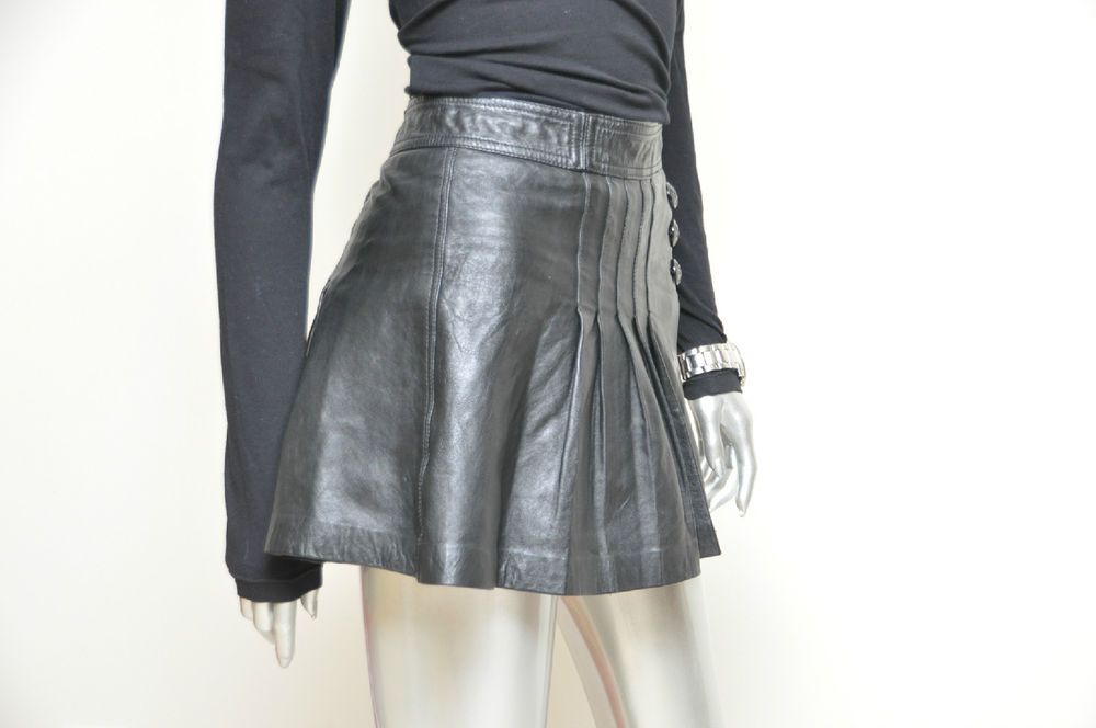 Juicy Couture Black Leather Mini Skirt Size 2 Pleated School Girl Skirt Goth #JuicyCouture #Mini #leatherskirt #miniskirt #juicy #sexystyle #leather #blackleather #schoolgirl #pleatedskirt #ebay #ladyyestetrday #blackleather
