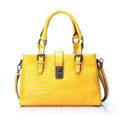 Wholesale Leather Shoulder Handbags China Bag RLLH1260 Yellow