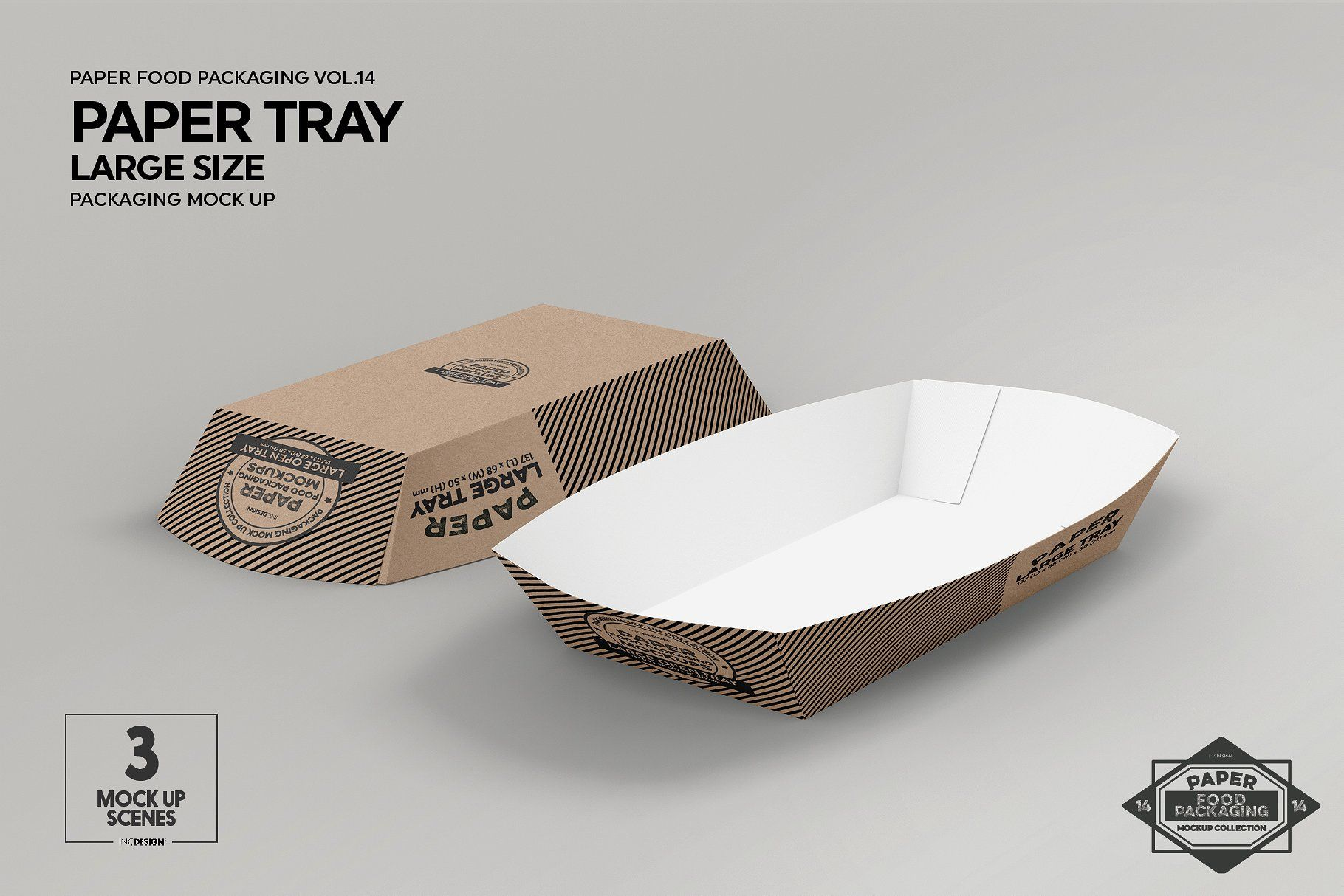 Download Paper Takeout Trays Packaging Mockup Food Box Packaging Packaging Mockup Free Packaging Mockup