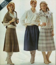 The general idea. Midi skirt with boots. Nix the god-awful patterns.