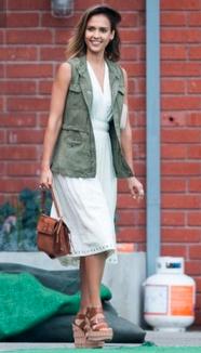 Jessica Alba in our courier vest