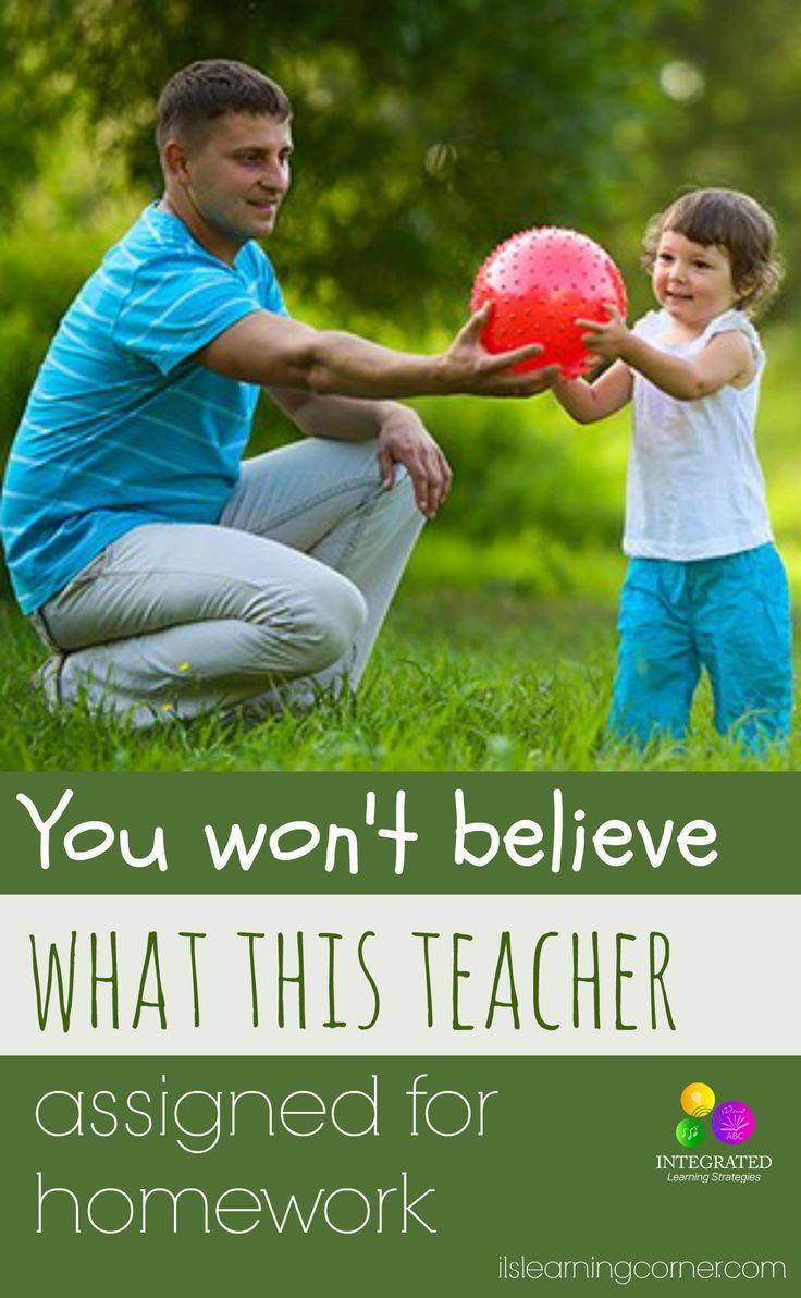 You won't believe what this teacher assigned for homework   ilslearningcorner.com #kidsactivities #kidsplay