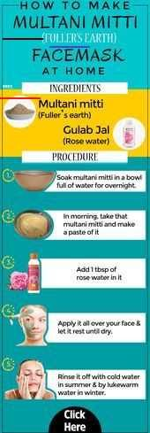 How to make  Fullers Earth or Multani Mitti face mask for glowing Skin . . #kac<br>