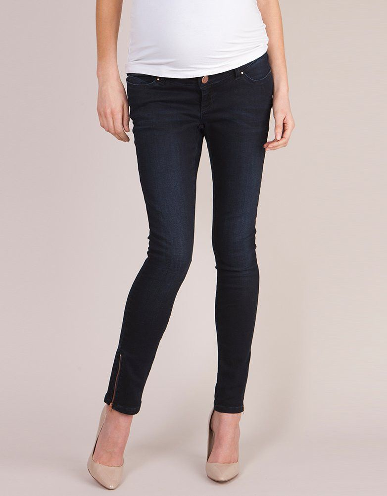 981102dc01eee Over Bump Indigo Skinny Maternity Jeans | I'm Going to Need a Bigger ...