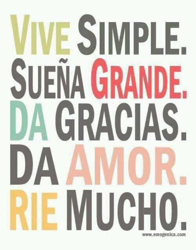 disfrutar de las cosas simples de la vida...
