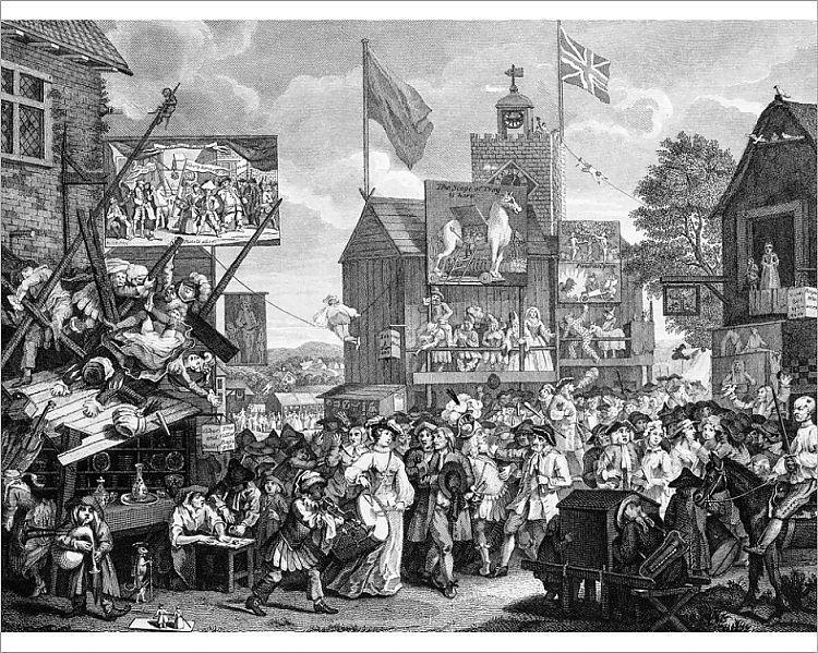 Photograph Crowded London Street By William Hogarth 10 X8 Photo