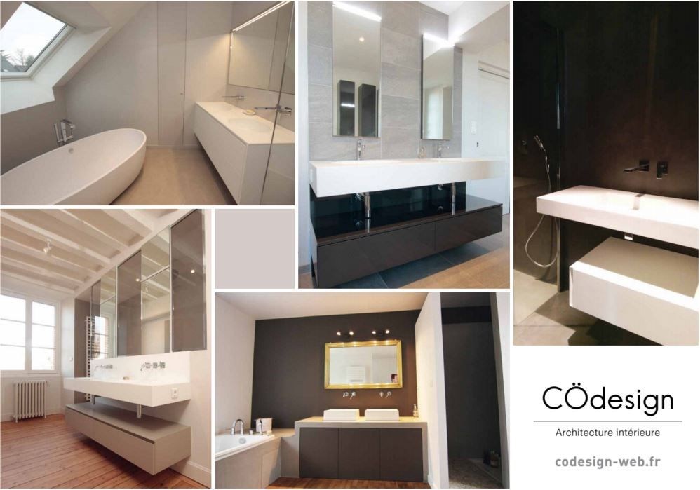 Patchwork de nos réalisations de salles de bain NOS REALISATIONS - Salle De Bains Nantes