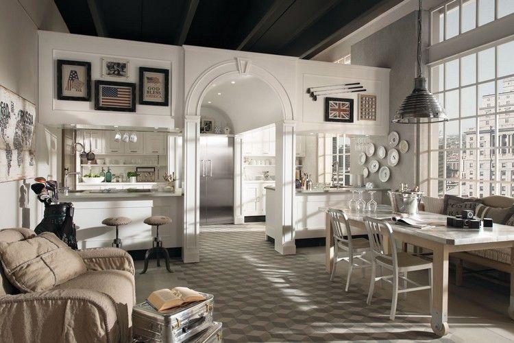Moderne Küche im Landhaus-Look \u2013 Montserrat in matt weiß - küche landhaus weiß