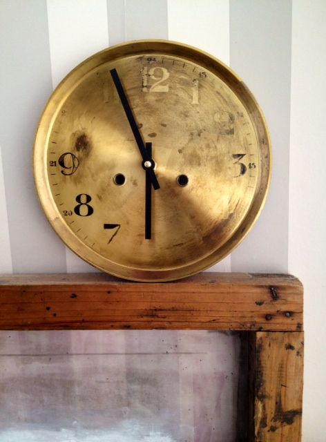 Before And After Old Clock Upcycle L Re Antique