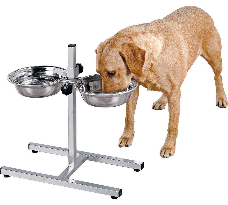 Stainless Steel Dual Pet Dining Set At 14 99 Argos Large Dog Bowls Stainless Steel Bowls Dog Bowls