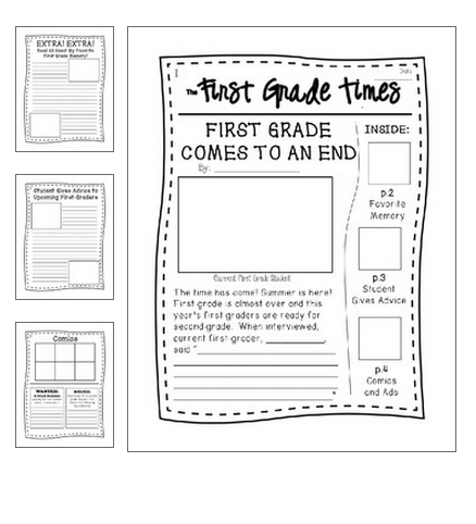 End Of Year Writing Activity In The Form Of A Newspaper -