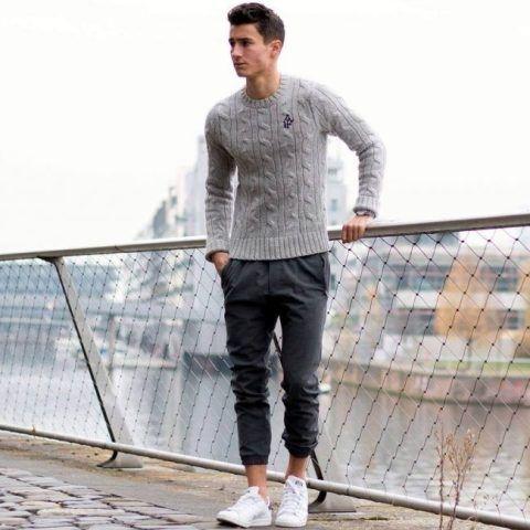 converse mens white jogger shoes