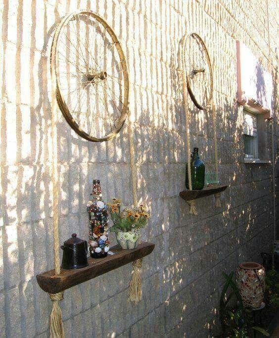 Bicycle Wheel Plant Hangers Diy Garden Decor Recycled 400 x 300