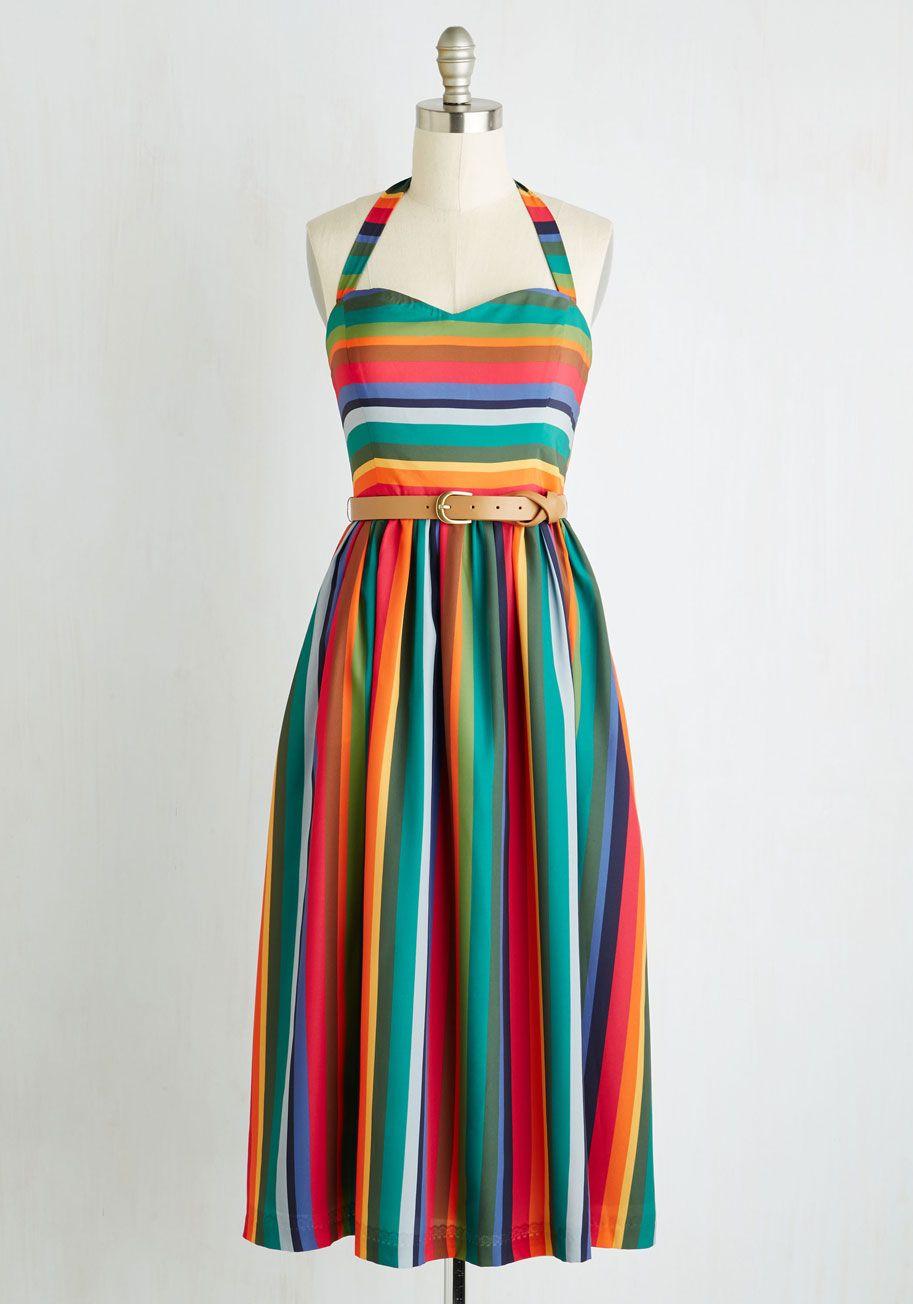 Halter Midi Dress with Ruffle Hem