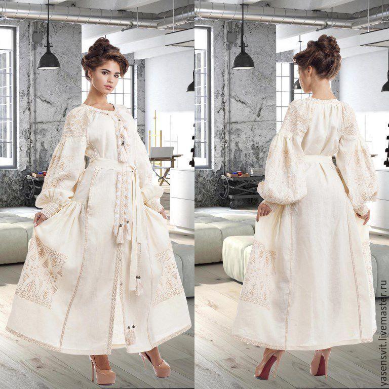 cf13d9cf3dee8d Купить Льняное платье с вышивкой. Платье вышиванка. Вышитое Бохо платье. -  вышитое платье