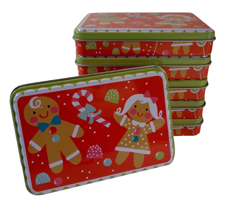 Bulk buy gingerbread christmas gift card tins pack of 6