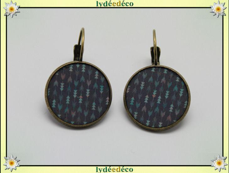 Boucles d'oreilles vert de gris