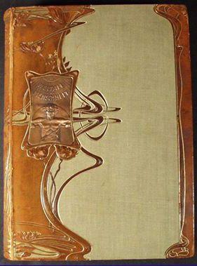 Art Nouveau Couverture De Livre Relie Cuir Vers 1905