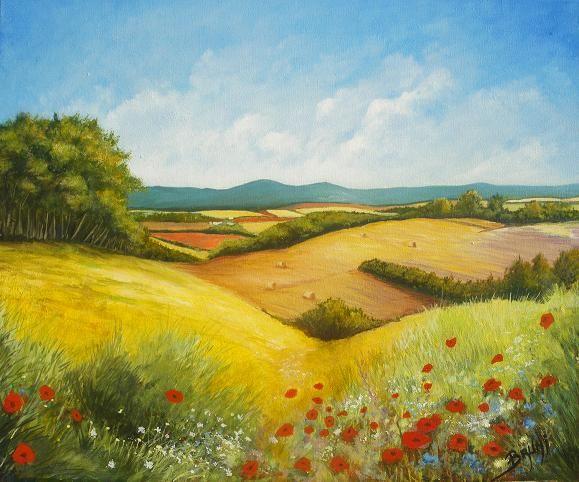 Tableau peinture art peinture paysage peinture figurative for Paysage peinture