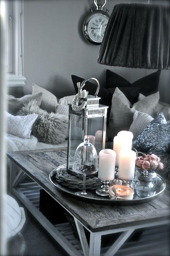 Stuen 1 decoratie decoration pinterest grey inspiration and living rooms - Decoratie villas ...