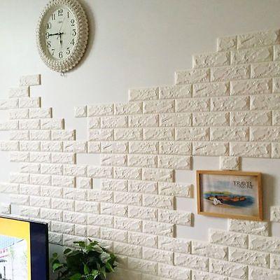 New 3d Foam Stone Brick Self Adhesive Wallpaper Diy Wall Sticker Panels Decal Brick Pattern Wallpaper Patterned Wallpaper Bedroom Brick Wall Wallpaper
