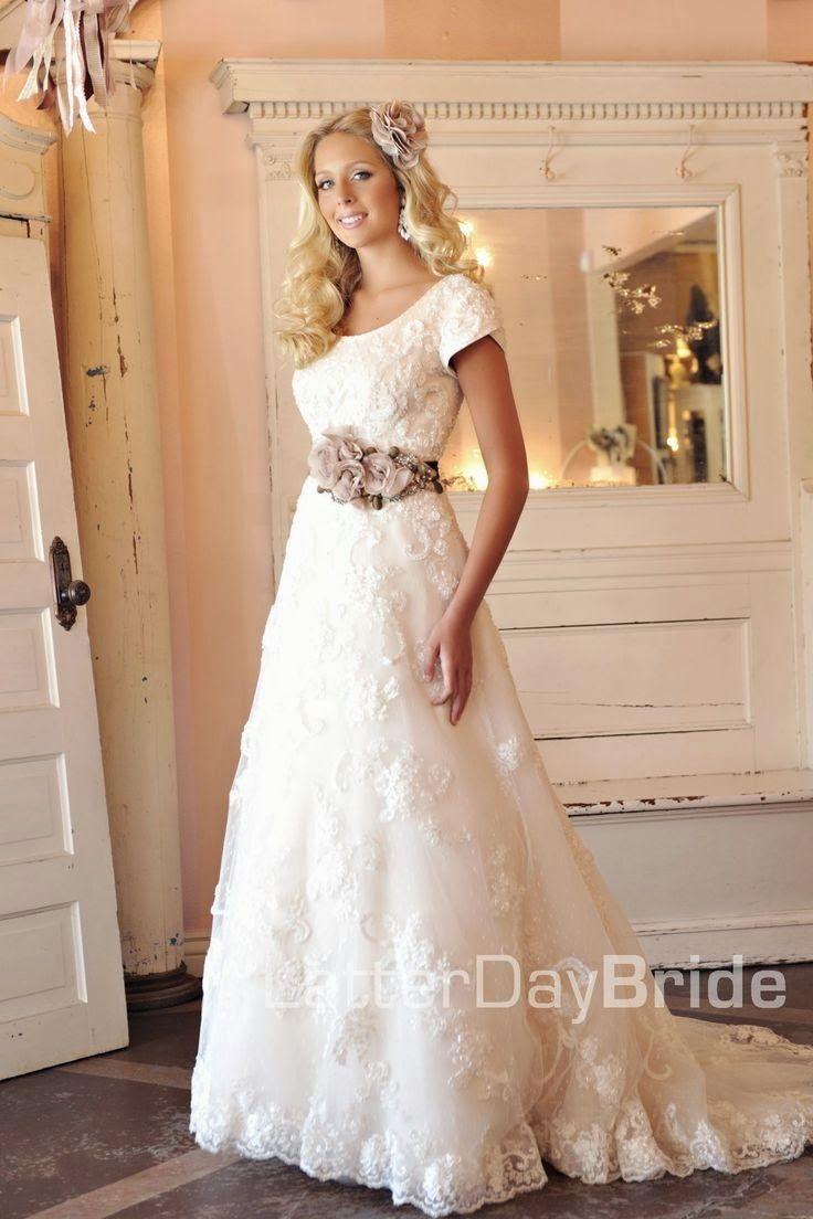 Modest wedding dresses latter day blue jean weddng pinterest