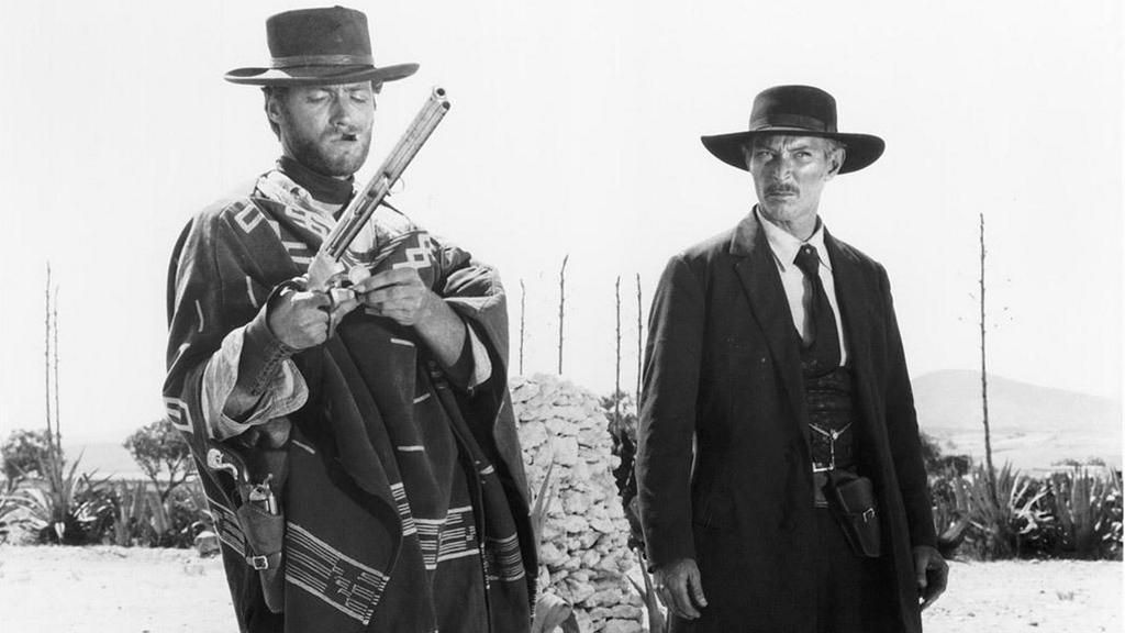 """Clint Eastwood and Lee Van Cleef, """"For a Few Dollars More"""", 1965."""