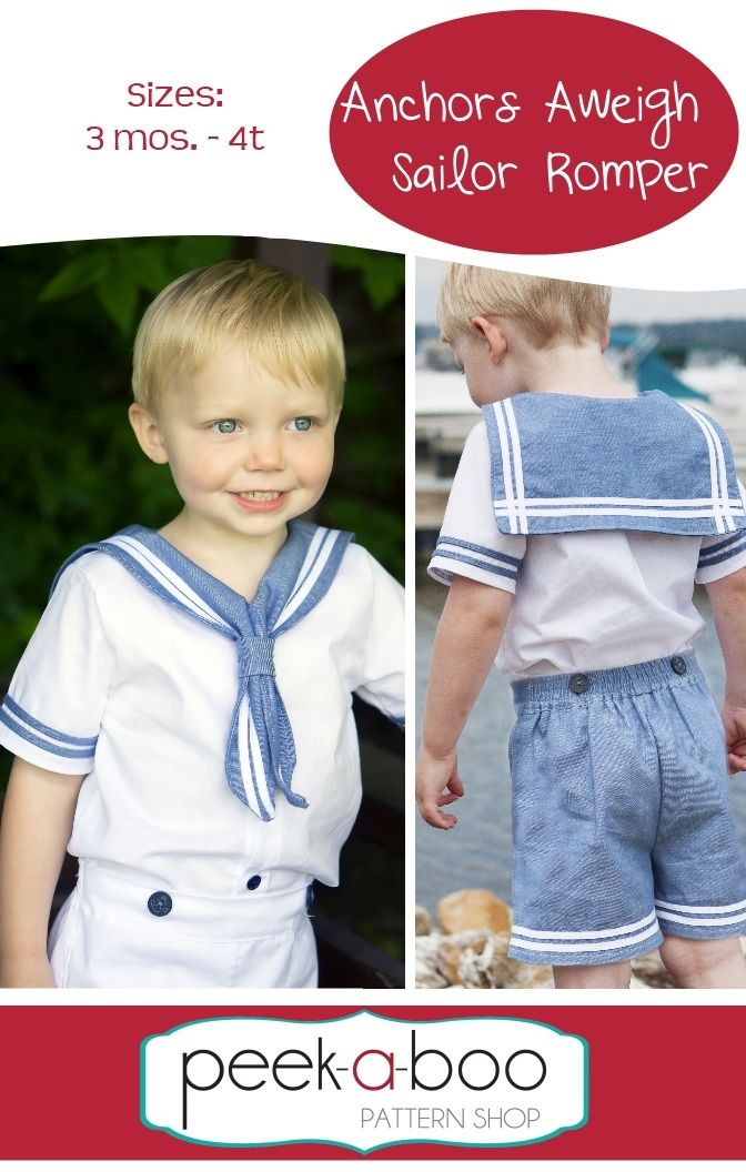 Anchors Aweigh Sailor Romper PDF Sewing Pattern