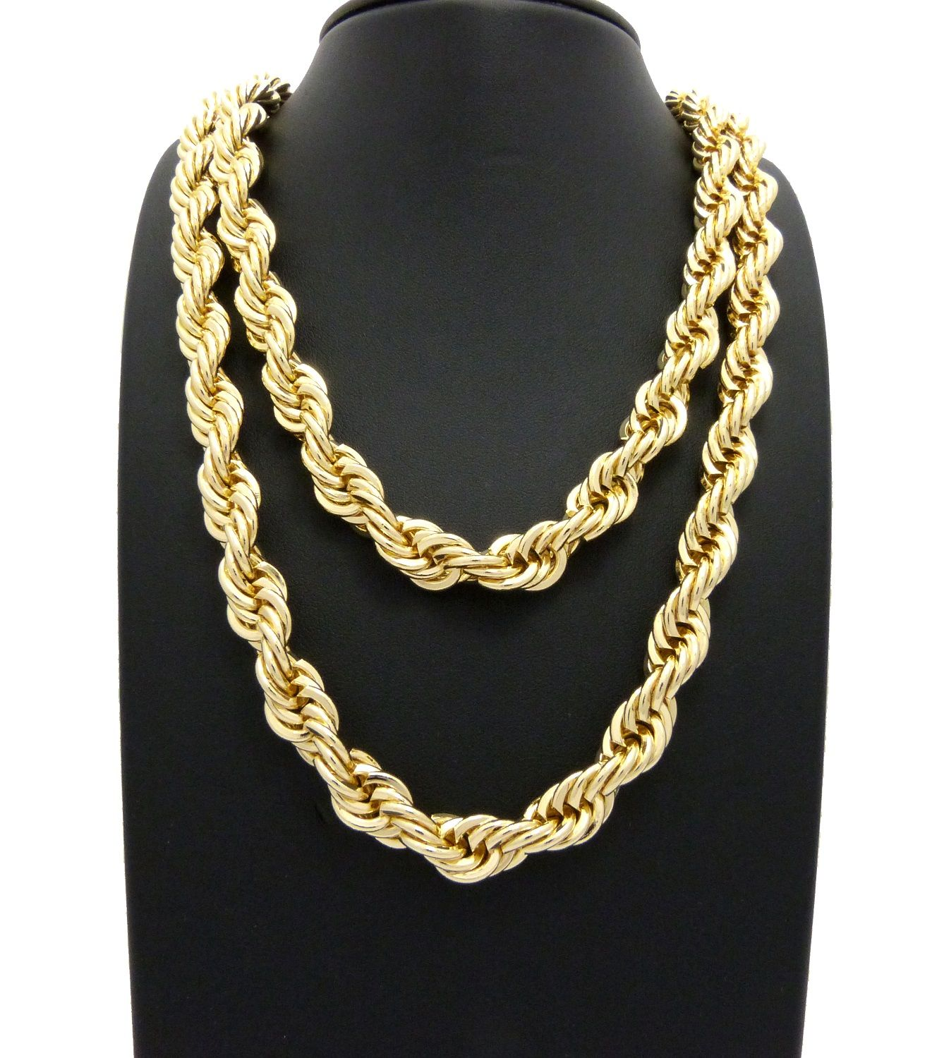 10mm 22 26 Rope Chain Hip Hop Necklace Set Silver Necklace Statement Jewelry Fashion Necklace