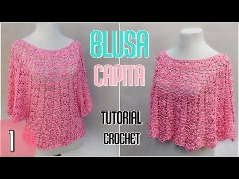 YouTube | blusas | Pinterest | Como tejer, Youtube y Blusas