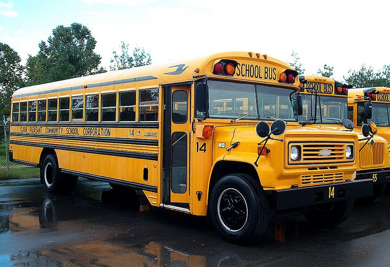 A Chevy Bluebird School Bus From The 1980 S With Images School