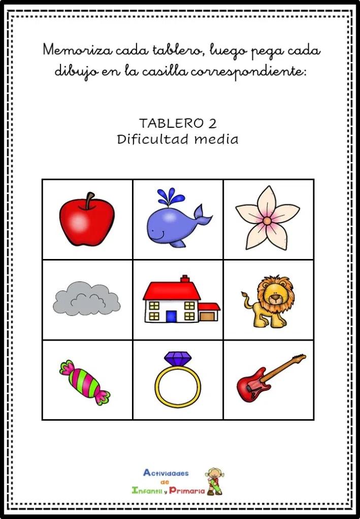 Juego Manipulativo De Memoria Y Atención Para Niños Memoria Estimulacion Cognitiva Niños Psicologia Del Aprendizaje